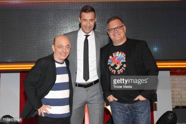 Bernhard Hoecker Kai Pflaume and Elton during the TV show Wer weiss denn sowas XXL on June 24 2019 in Hamburg Germany