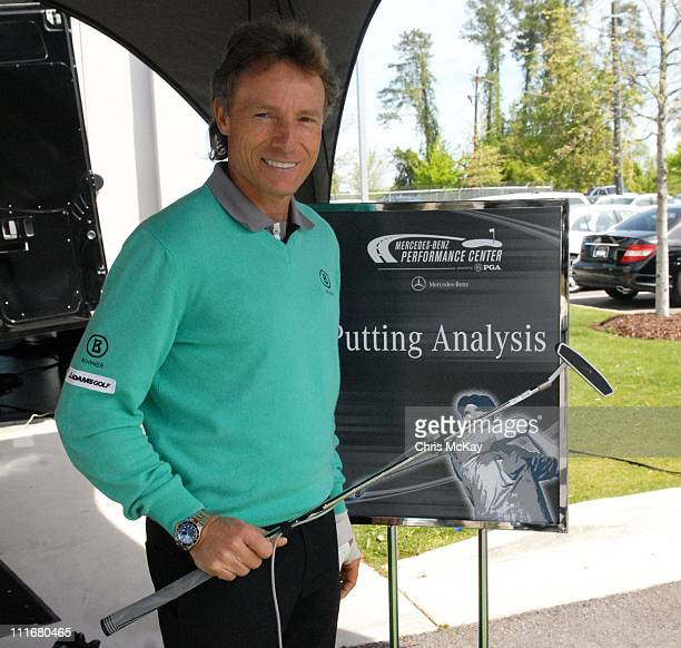 Bernhard Langer appears at Mercedes-Benz of Augusta on April 5, 2011 in Augusta, Georgia.