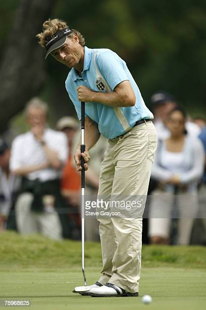 Bernhard Langer in action during the final round of the 2007 Crowne Plaza Invitational at Colonial at the Colonial Country Club in Fort Worth Texas...