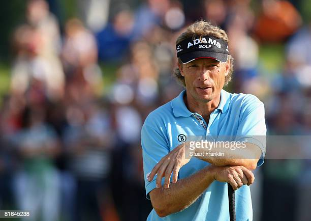 Bernhard Langer of Germany during the second round of The BMW International Open Golf at The Munich North Eichenried Golf Club on June 20 in Munich...