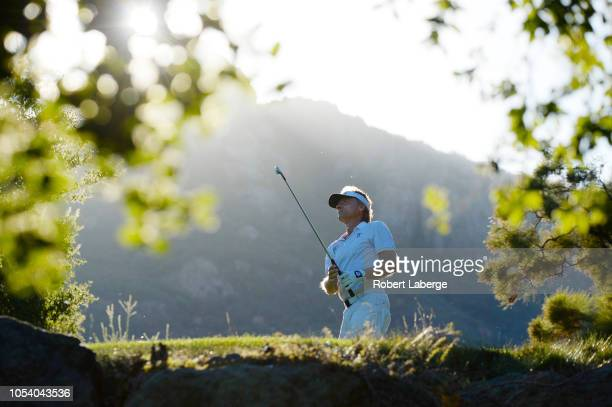 Bernhard Langer of Germany makes a tee shot on the 17th hole during round one of the PGA Champions Tour 2018 Invesco QQQ Championship at the Sherwood...