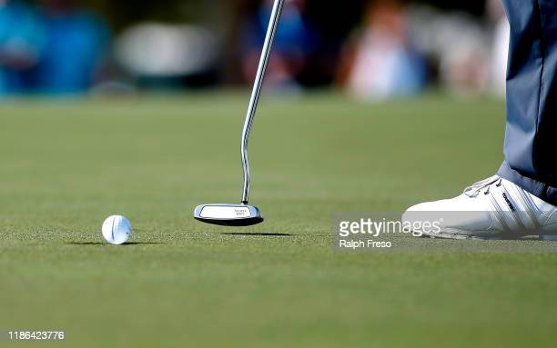 Bernhard Langer of Germany taps in a putt on the fourth hole during the second round of the Charles Schwab Cup Championship at Phoenix Country Club...