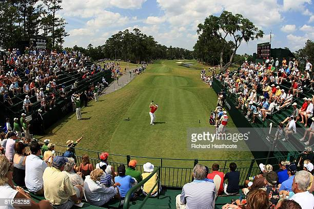 Bernhard Langer of Germany tee's off at the 1st during the third round of THE PLAYERS Championship on THE PLAYERS Stadium Course at TPC Sawgrass on...