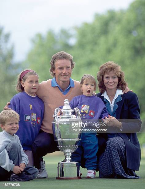 Bernhard Langer of Germany with his wife Vikki and their children Stefan Jackie and Christina after winning the PGA Championship held at the...