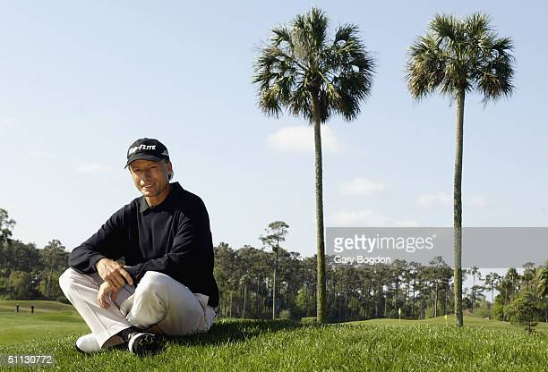 Bernhard Langer poses for a portrait before The 2004 Players Championship on March 23, 2004 at the TPC at Sawgrass in Ponte Vedra, Florida.