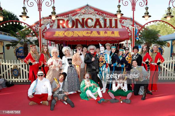 Bernhard Paul and artists during Circus Roncalli Gala at Moorweide Park on June 7 2019 in Hamburg Germany