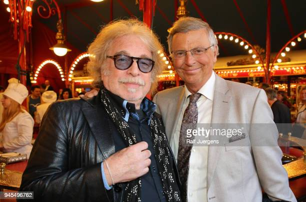 Bernhard Paul and Wolfgang Bosbach attend the premiere of the Circus Roncalli show 'Storyteller' on April 12 2018 in Cologne Germany