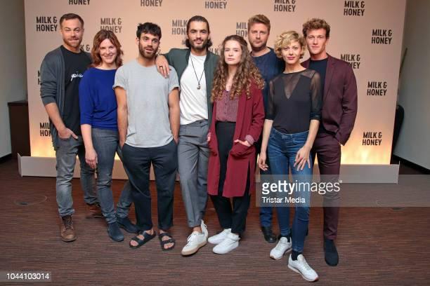 Bernhard Piesk, Anne Weinknecht, Deniz Arora, Nik Xhelilaj, Marlene Tanczik, Nils Doergeloh, Katharina Schlothauer and Artjom Gilz during the photo...