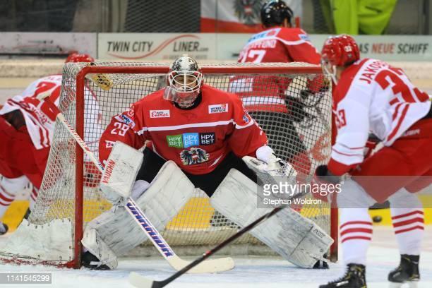 Bernhard Starkbaum of Australia during the Austria v Denmark - Ice Hockey International Friendly at Erste Bank Arena on May 5, 2019 in Vienna,...