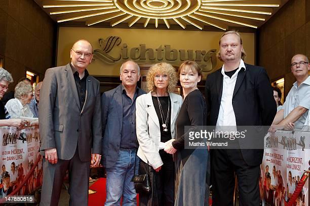 Bernhard Wilmer Bernd Boehlich Eva Martens Angelica Domroese and Thorsten Frese attend the premiere of 'Bis Zum Horizont Dann Links' at Lichtburg on...