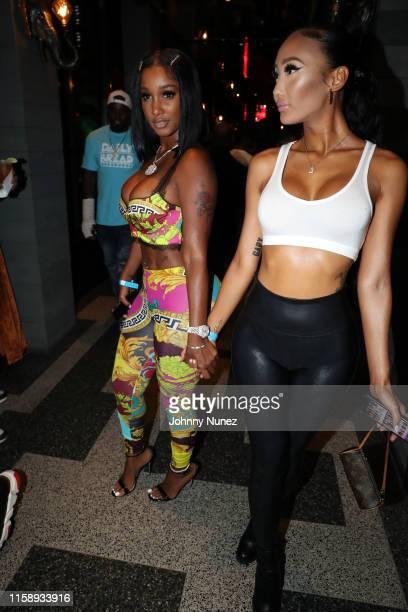 Bernice Burgos and Grace attend Lil Uzi Vert's 25th Birthday at Moxy Hotel on July 31 2019 in New York City