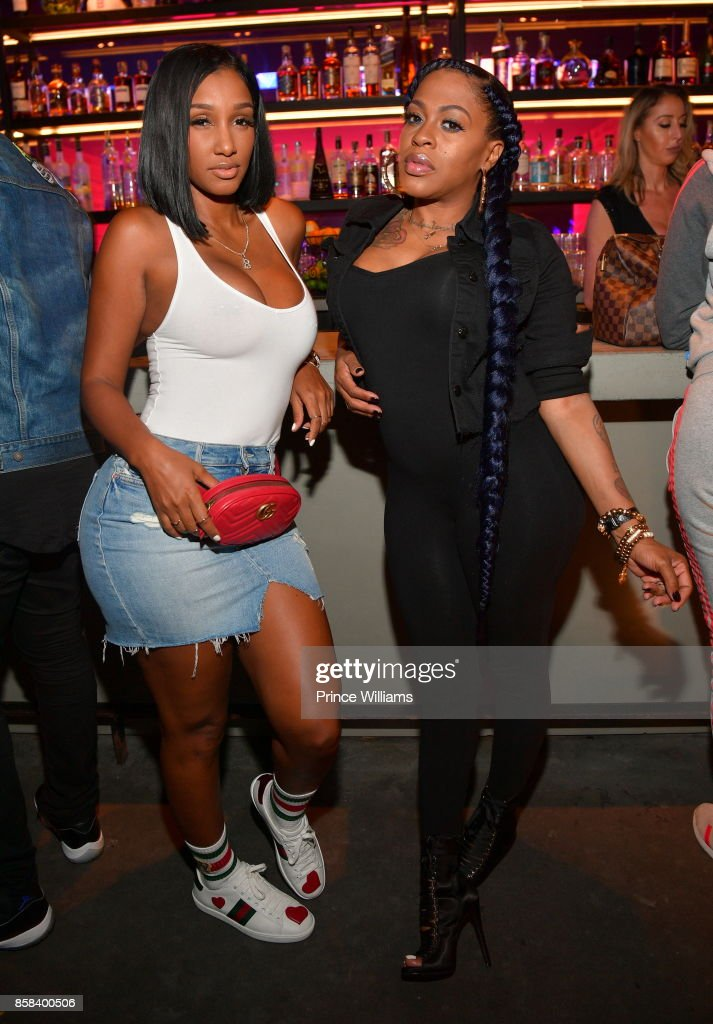 Bernice Burgos and Lil Mo attend Baller Alert's Bowl With a Baller at Basement Bowl on October 5, 2017 in Miami, Florida.