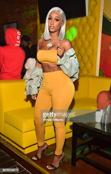 Bernice Burgos attends a party at Living Room lounge on April 30 2018 in Atlanta Georgia