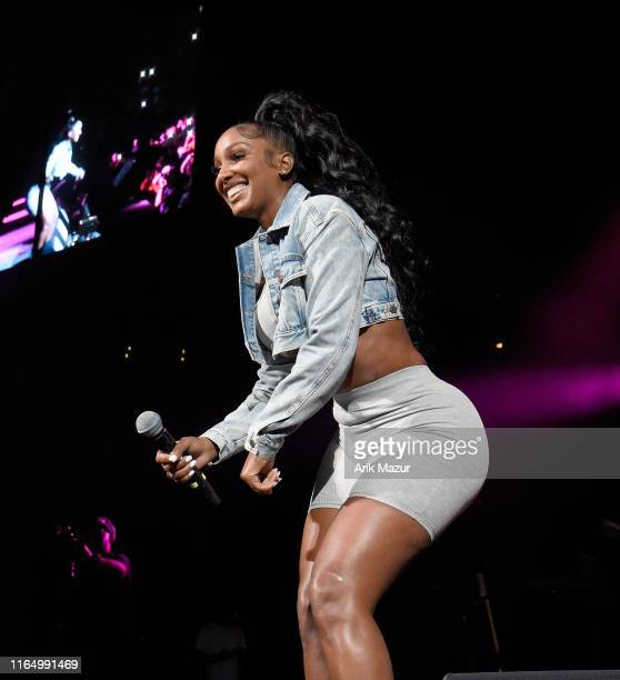 Bernice Burgos performs at the Soulfrito Music Festival at Barclays Center on August 30 2019 in New York City