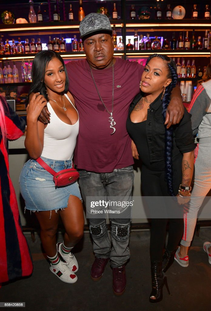 Bernice Burgos, Trick Daddy and Lil Mo attend Baller Alert's Bowl With a Baller at Basement Bowl on October 5, 2017 in Miami, Florida.