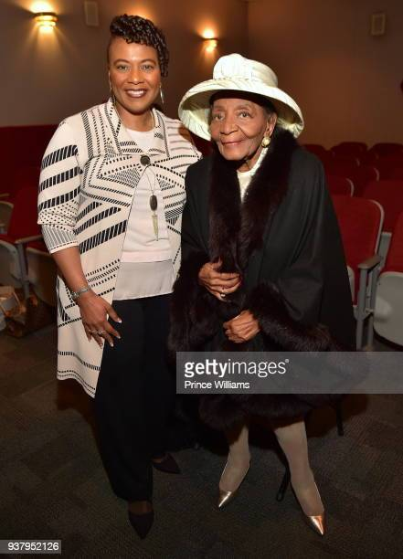 Bernice King and Christine King farris attend UNSLOVED HISTORY Life of a King Atlanta Screening at Martin Luther King Jr National Historic Site on...