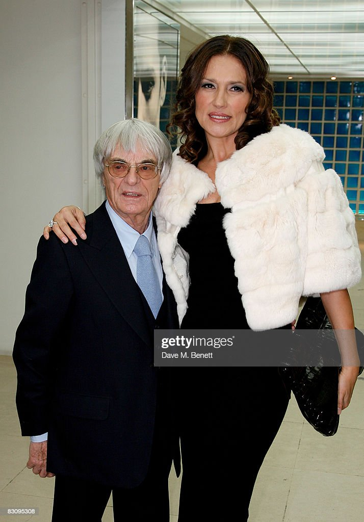 Bernie and Slavica Ecclestone attend the launch party for Form Menswear, at Harrods on October 2, 2008 in London, England.