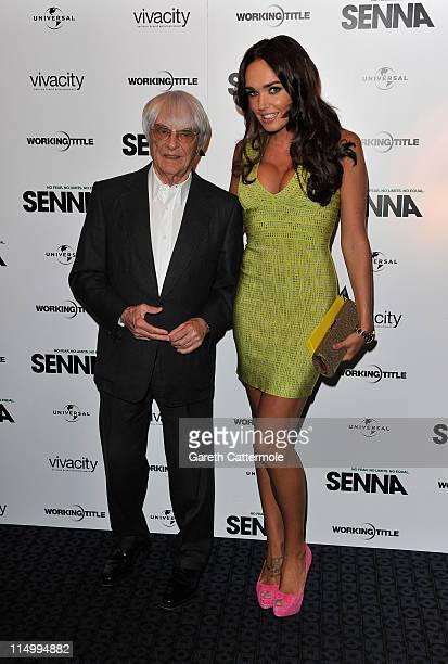Bernie and Tamara Ecclestone arrive at the UK Premiere of Senna at The Curzon Mayfair on June 1 2011 in London England