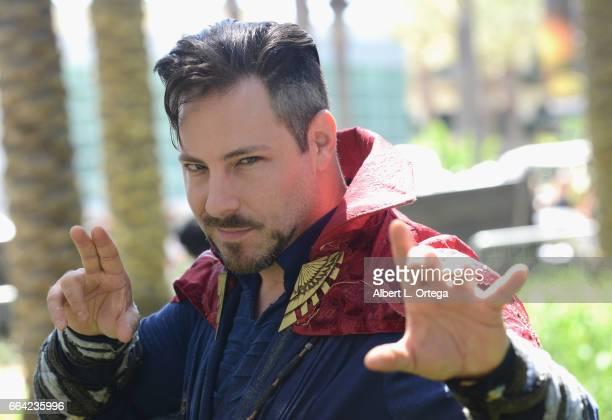 Bernie Bregman dressed as Doctor Strange on Day 3 of WonderCon 2017 held at Anaheim Convention Center on April 2 2017 in Anaheim California