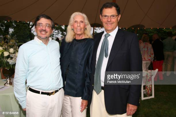 Bernie Carl Cynthia Frank and Donald Frank attend 'American Beauty' The SOUTHAMPTON ROSE SOCIETY Cocktail Party Benefit at Private Residence on July...