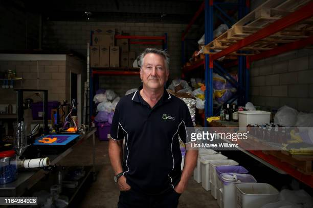 Bernie Craven, founder of Waste Free Systems and University of Technology Sydney research grant recipient at his factory on July 25, 2019 in Kunda...