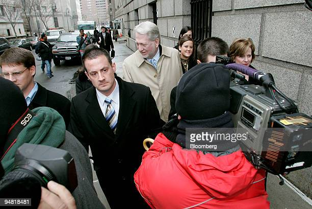 Bernie Ebbers former CEO of Worldcom leaves Manhattan Federal Court accompanied by his wife Kristie and some of his daughters as the jury plans to...