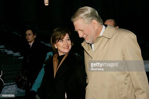 Bernie Ebbers former CEO of Worldcom leaves Manhattan Federal Court accompanied by his wife Kristie Wednesday Jan 26 2005