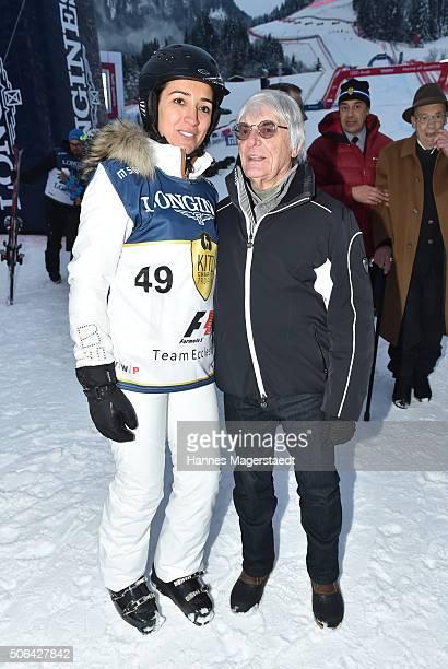 Bernie Ecclestone and Fabiana Ecclestone during the 'KitzCharityTrophy at Hahnenkamm Race' on January 23, 2016 in Kitzbuehel, Austria.