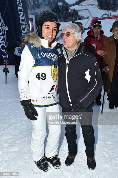 Bernie Ecclestone and Fabiana Ecclestone during the 'KitzCharityTrophy at Hahnenkamm Race' on January 23 2016 in Kitzbuehel Austria