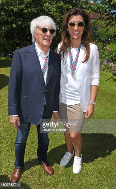 Bernie Ecclestone and Fabiana Flosi attend Cartier Style Et Luxe at the Goodwood Festival Of Speed on July 2 2017 in Chichester England