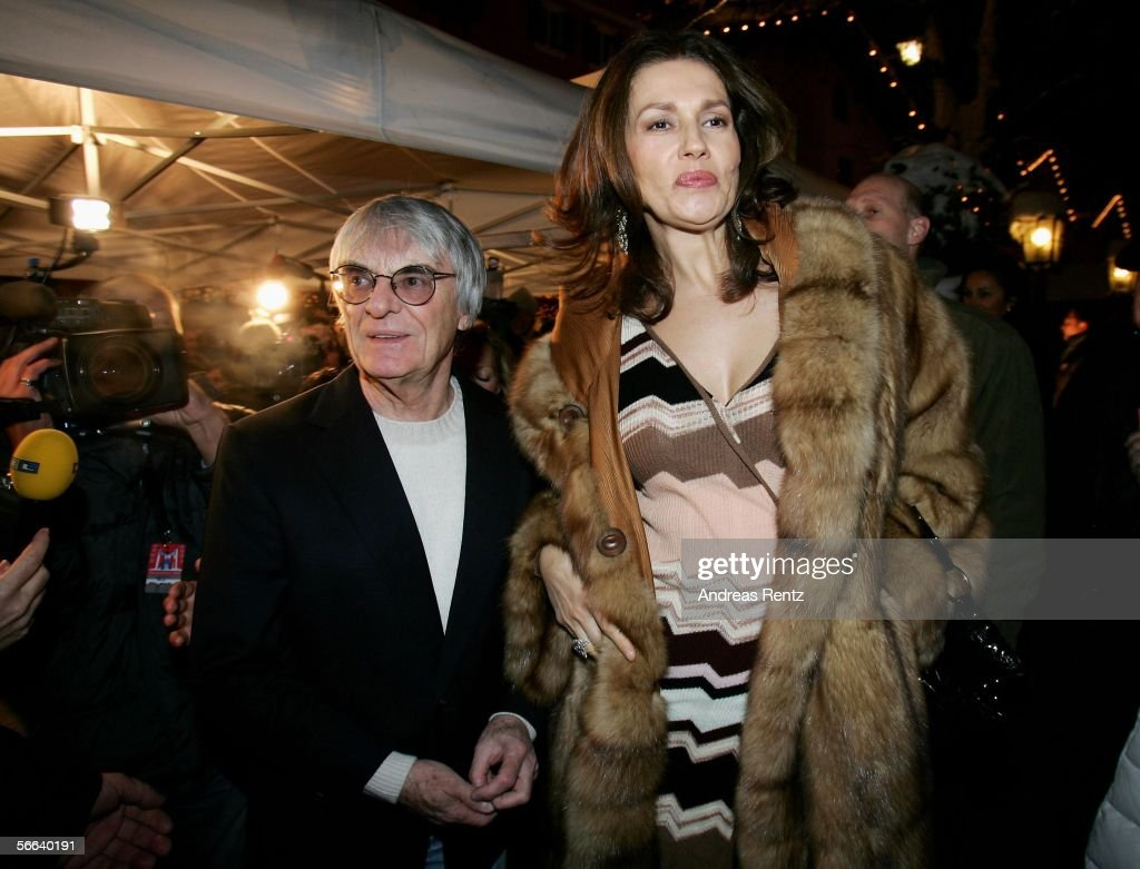 Bernie Ecclestone and his wife Slavica attend the Audi Night party at the Hotel Tenne on January 20, 2006 in Kitzbuehel, Austria.