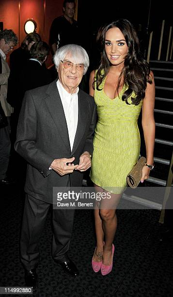 Bernie Ecclestone and Tamara Ecclestone attend the UK Premiere of 'Senna' a documentary on Brazilian Formula One racing driver Ayrton Senna at The...