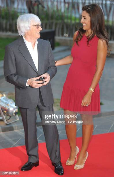 Bernie Ecclestone and wife Fabiana Flosi attend the premier of Rush at Odeon Leicester Square, London.