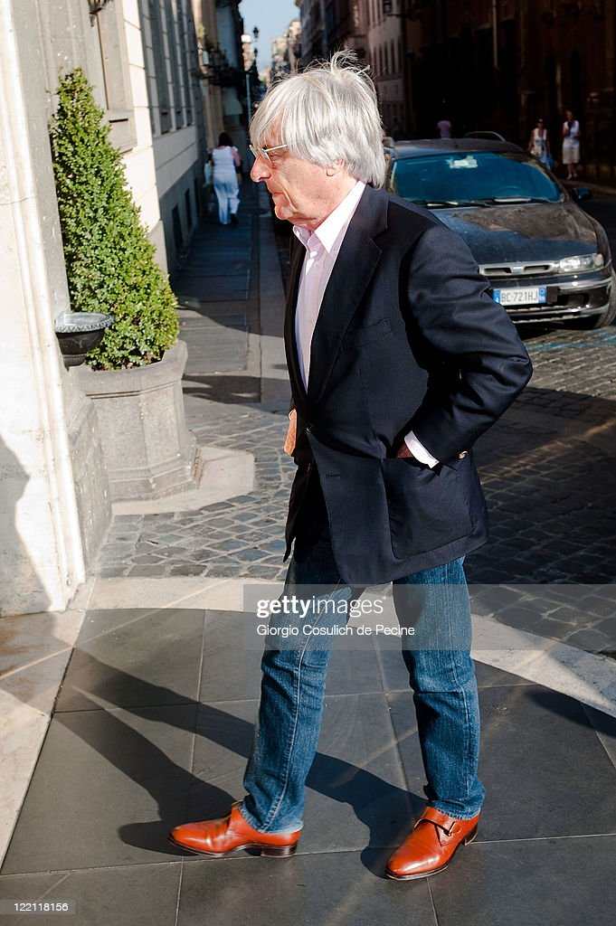 Bernie Ecclestone arrives at Hotel Hassler, ahead of Petra Ecclestone and James Stunt's wedding, on August 25, 2011 in Rome, Italy.
