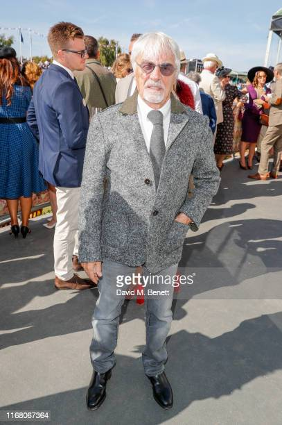 Bernie Ecclestone attends day two of the Goodwood Revival 2019 at Goodwood on September 14 2019 in Chichester England