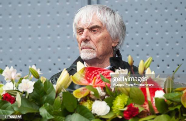 Bernie Ecclestone attends Mutua Madrid Open at Caja Magica on May 08 2019 in Madrid Spain