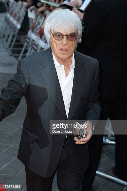 Bernie Ecclestone attends the Rush world premiere at The Odeon Leicester Square on September 2 2013 in London England