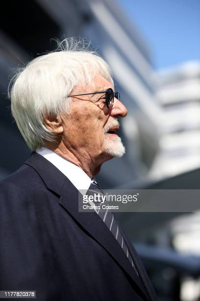 Bernie Ecclestone Chairman Emeritus of the Formula One Group looks on in the Paddock before the F1 Grand Prix of Russia at Sochi Autodrom on...