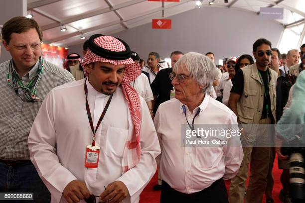 Bernie Ecclestone Crown Prince of Bahrein Grand Prix of Bahrain Bahrain International Circuit 14 March 2010 Bernie Ecclestone with the Crown Prince...