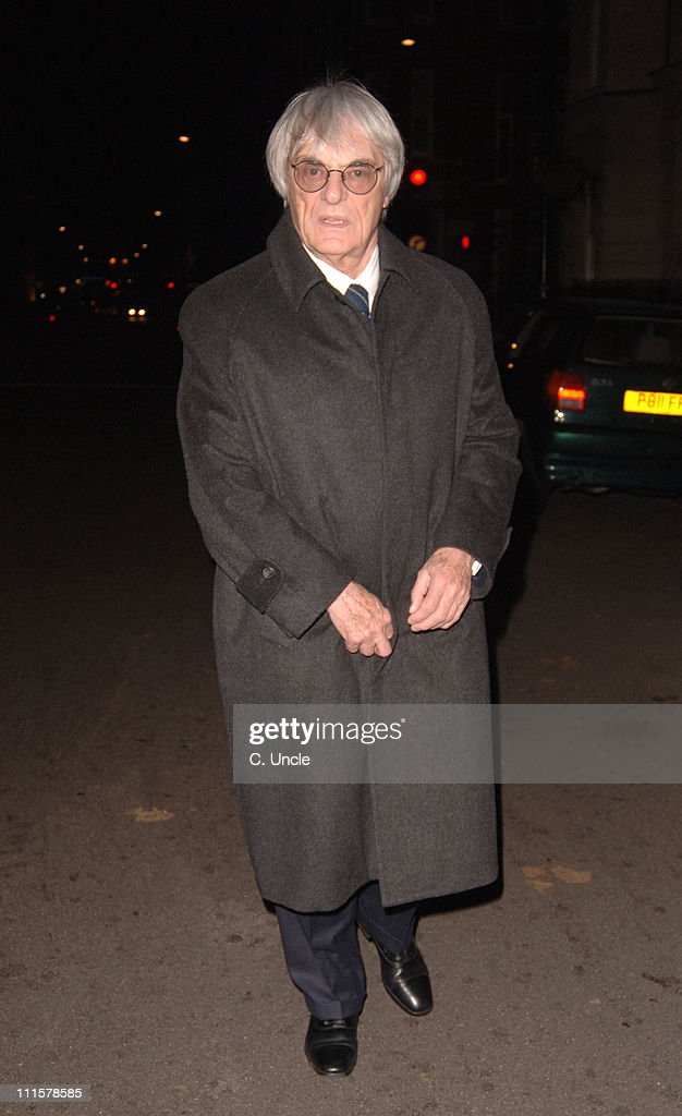 Bernie Ecclestone during Celebrity Sightings at Cipriani's Restaurant in London - November 28, 2005 at Cipriani's Restaurant in London, Great Britain.