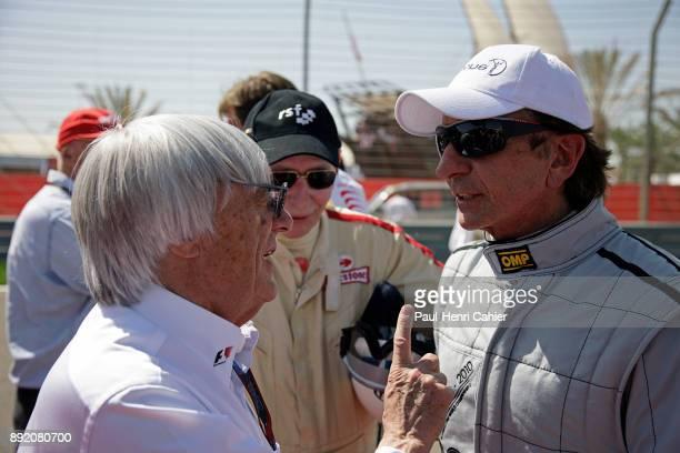 Bernie Ecclestone Emerson Fittipaldi Grand Prix of Bahrain Bahrain International Circuit 14 March 2010