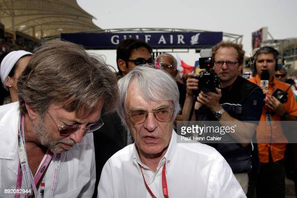 Bernie Ecclestone Eric Clapton Grand Prix of Bahrain Bahrain International Circuit 06 April 2008 Bernie Ecclestone with legendary guitar player Eric...