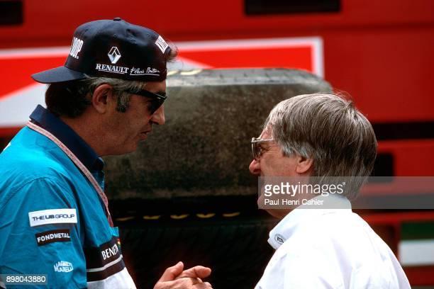 Bernie Ecclestone Flavio Briatore Grand Prix of France Circuit de Nevers MagnyCours 30 June 1996 Flavio Brioatore and Bernie Ecclestone