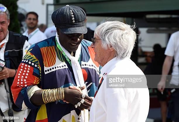 Bernie Ecclestone FOM und Mr Moko Schmuckdesigner VIP formula 1 GP Ungarn in Budapest