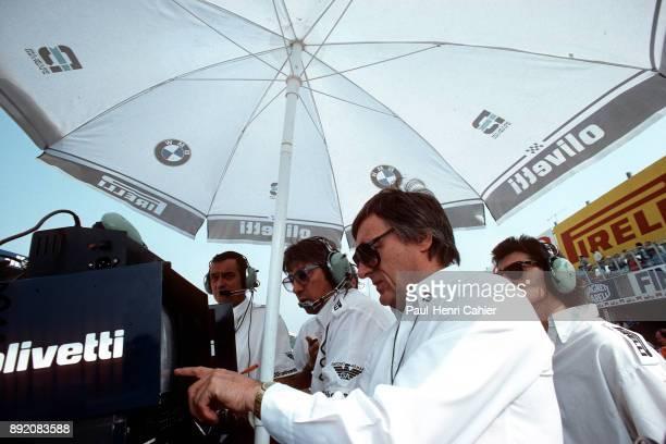 Bernie Ecclestone Herbie Blash Paul Rosche Grand Prix of Italy Autodromo Nazionale Monza 07 September 1986