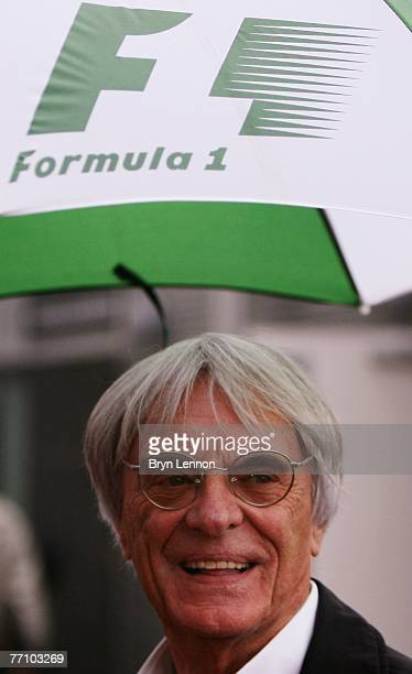 Bernie Ecclestone is seen prior to qualifying for the Japanese Formula One Grand Prix at the Fuji Speedway on September 29 2007 in Shizuoka Japan