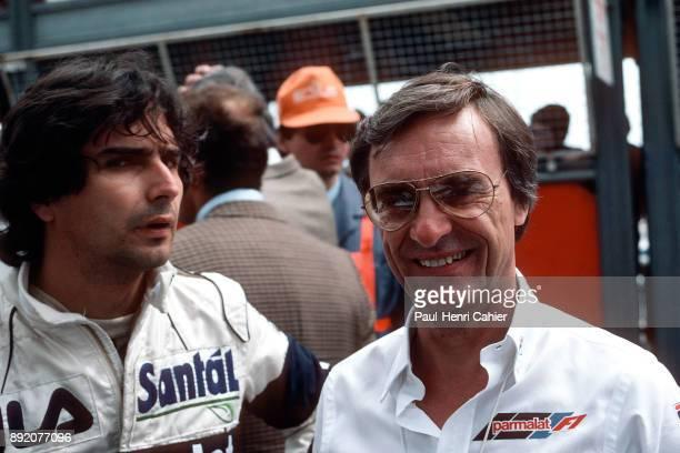 Bernie Ecclestone, Nelson Piquet, Grand Prix of San Marino, Autodromo Enzo e Dino Ferrari, Imola, 01 May 1983.