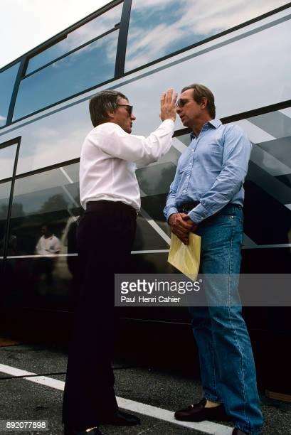 Bernie Ecclestone, Pat McNally, Grand Prix of Italy, Autodromo Nazionale Monza, 07 September 1986. Bernie Ecclestone with Allsport Management...