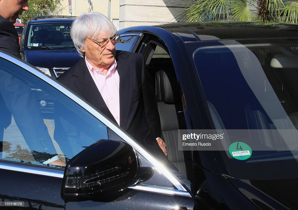 Bernie Ecclestone sighting at Ciampino Airport as he arrives for Petra Ecclestone and James Stunt's wedding on August 25, 2011 in Rome, Italy.
