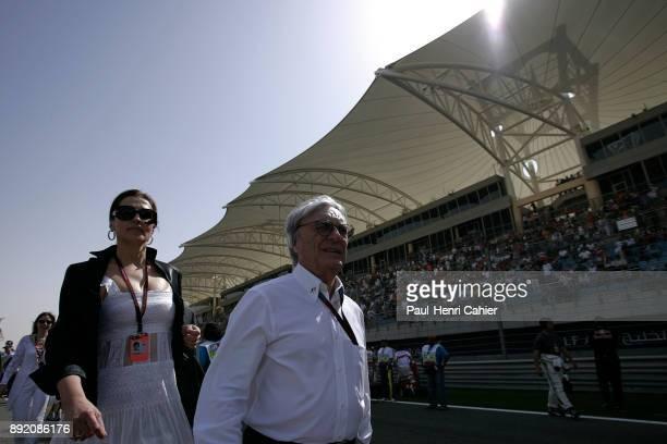 Bernie Ecclestone Slavica Ecclestone Grand Prix of Bahrain Bahrain International Circuit 15 April 2007 Bernie Ecclestone with his wife Slavica...